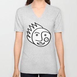 Smiling Face Unisex V-Neck