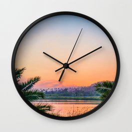 Between the Palms (Color) Wall Clock