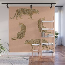 sunset leopards Wall Mural
