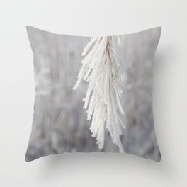 Winter Grass Throw Pillow