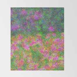 Meadow Pattern With Flowers Throw Blanket
