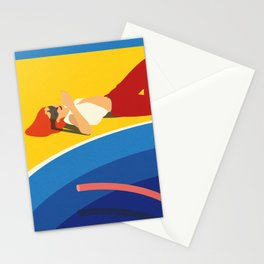 Viktoria At The Pool Stationery Cards
