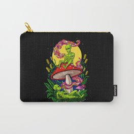 Aliens Magic Mushrooms Smoking Psychedelics Carry-All Pouch