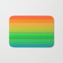 Bright Rainbow Stripes Bath Mat