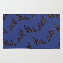 Blue Antler Pattern Rug