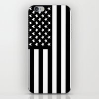 flag iPhone & iPod Skins featuring Flag by Stephanie Janeczek