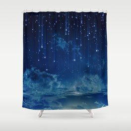 Falling stars I Shower Curtain