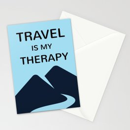 TRAVEL is my therapy Stationery Cards