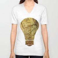 france V-neck T-shirts featuring I ♥ France by Irène Sneddon