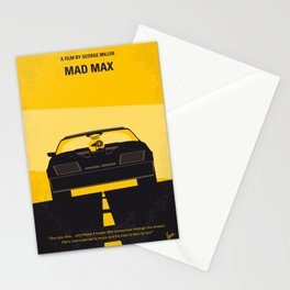 No051 My Mad Max 1 minimal movie poster Stationery Cards