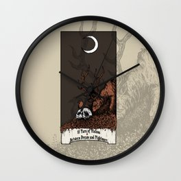 10 Yars of Visions  Between Dream and Nightmare Wall Clock