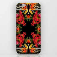 givenchy iPhone & iPod Skins featuring Givenchy- Birds Of Paradise by Jacobello