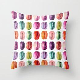 macaron lollipops Throw Pillow