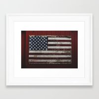 american flag Framed Art Prints featuring American Flag by bill bill