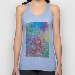 Water colors 2 - Rainbow corals Unisex Tank Top
