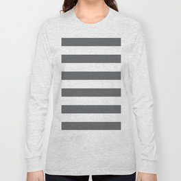 Simply Striped in Storm Gray and White Long Sleeve T-shirt