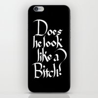 calligraphy iPhone & iPod Skins featuring Pulp Calligraphy by Matthew Bartlett