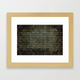 The Binary Code - Dark Grunge version Framed Art Print