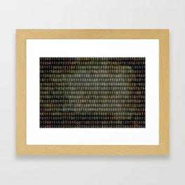 The Binary Code - Dark Grunge version Framed Art Print