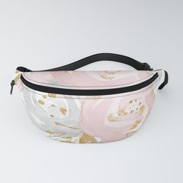 Roses Gold Glitter Pink by Nature Magick Fanny Pack