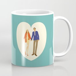 A touch of colour - Modern, Fashion Inspired Illustration Print Coffee Mug