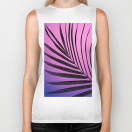 Simple palm leaves in purplish gradient Biker Tank