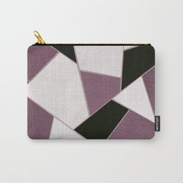 Mauve Black Geometric Glam #1 #geo #decor #art #society6 Carry-All Pouch