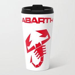 Abarth scorpion red Travel Mug