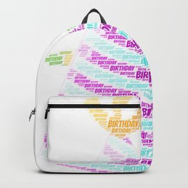 Birthday Word Cloud Backpack