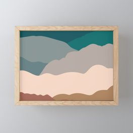 the mountains Framed Mini Art Print