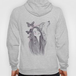 Wolf To The Moon Hoody