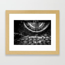 Typing histories Framed Art Print
