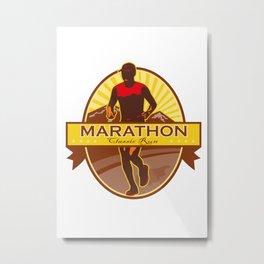 Marathon Classic Run Retro Metal Print