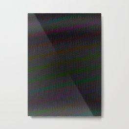 TV Static Metal Print