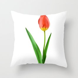 Tulipe Red Flower Throw Pillow