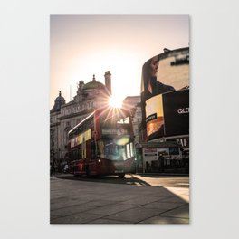 ArWork Bus Piccadily Sunset London ArtPhoto Art Canvas Print