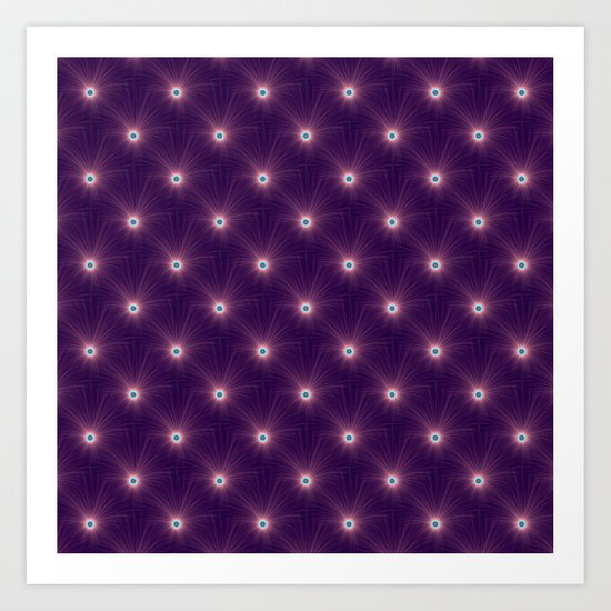 Color Explosion in Purple and Blue tiled Art Print