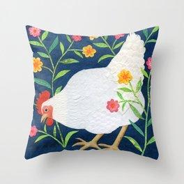 White Chicken #2 Throw Pillow