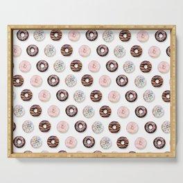 Donut Pattern white Serving Tray