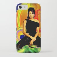 angelina jolie iPhone & iPod Cases featuring Angelina Jolie by JT Digital Art