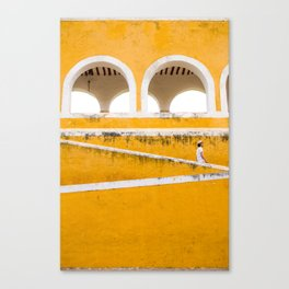 Colonial Mexico, Izamal in Yellow #buyart #society6 #decor Canvas Print