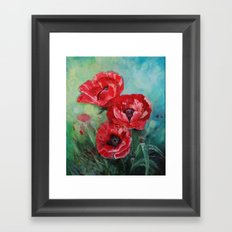 The Fairies Poppies Framed Art Print