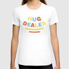 Hug Dealer Womens Fitted Tee SMALL White