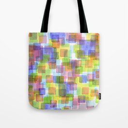 Floating Lightfull Squares  Tote Bag