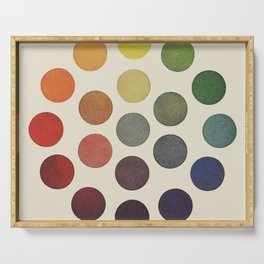 'Parsons' Spectrum Color Chart' 1912, Remake Serving Tray