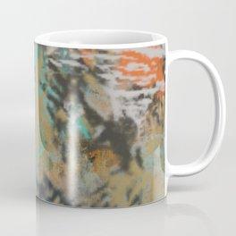 Orange, Aqua, and Natural Abstract Coffee Mug