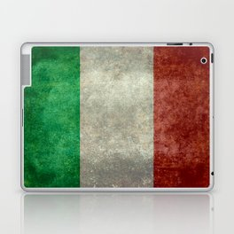 Italian flag, vintage retro style Laptop & iPad Skin