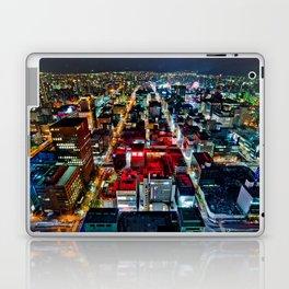 A Peaceful City - Sapporo , Japan ( with Billboard )  Laptop & iPad Skin