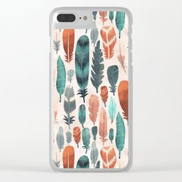 Kiskadee Feathers Clear iPhone Case
