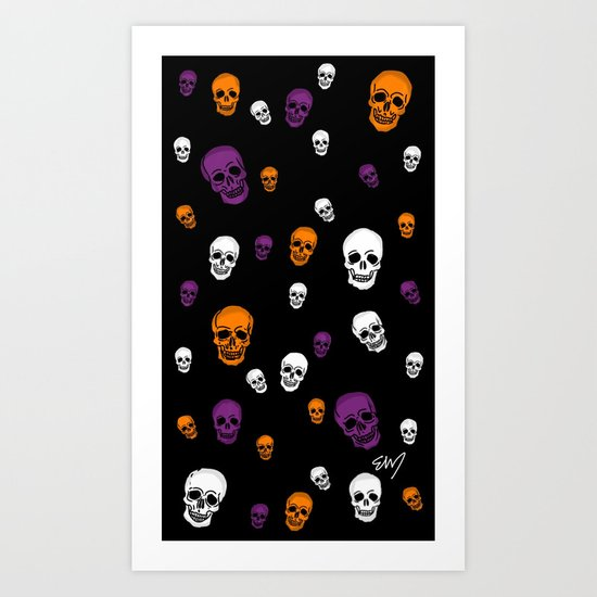 Skulls Galore Art Print